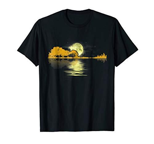 (Guitar Lake Shadow Love Guitar T-Shirt)
