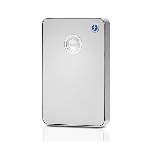 G-Technology 1TB G-DRIVE mobile with Thunderbolt and USB 3.0 Portable External Hard Drive, Silver - 0G03040