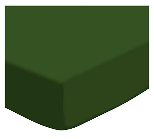 SheetWorld Fitted Cradle Sheet - Flannel - Hunter Green - Made In USA