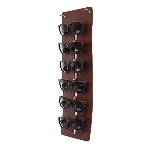 Hide & Drink, Leather Large Eyewear Wall Holder/Sunglasses/Eyeglasses/Display Case/Organizer, Handmade Includes 101 Year Warranty :: Bourbon Brown from Hide & Drink