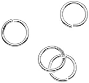 10 pieces 4 mm jump rings 925 sterling silver for jewellery making