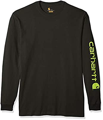 Carhartt Men's Big & Tall Signature Logo Long Sleeve T Shirt K231