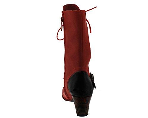 Botas y botines Laura Vita, color rojo ahumado