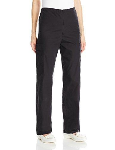 Scrub Zone Scrub Pants - Landau Women's Unisex Cargo Medical Scrub Pant, Black, X-Large Petite