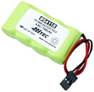 Hitec Receiver NiMH Battery Pack, Flat, 750mAh ()