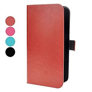 hao PU Leather Case with Magnetic Snap and Card Slot for Samsung Galaxy Mega 6.3 I9200 (Assorted Colors) , Rose