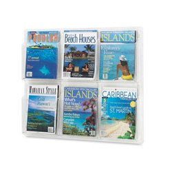 Safco Products 5607CL Reveal Literature Display, 6 Magazine, Clear -