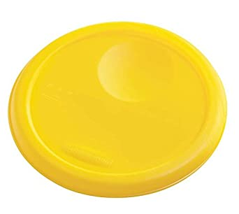 Rubbermaid Commercial Products FG572200YEL Commercial Round Food Storage Container Lid, 2-4 quart, Yellow, (Pack of 12)