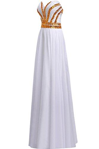 Sunvary - Vestido - para mujer blanco