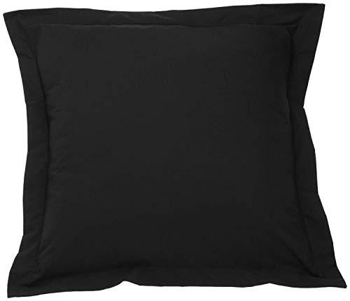 European Pillow Covers Set of 2 Super Soft European 28x28 Size Pillow Covers/Pillowcase with 100% Egyptian Cotton 500 Thread Count. (European 28X28, Black) Black Pillow Sham Insert