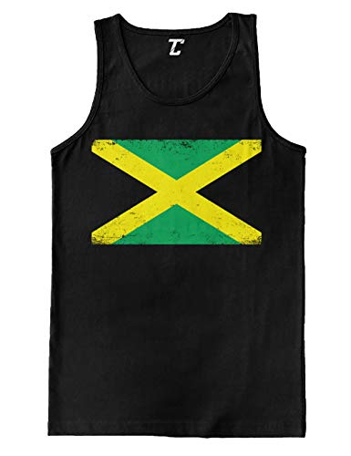 Jamaica Flag - Country Heritage Pride Men's Tank Top (Black, X-Large)