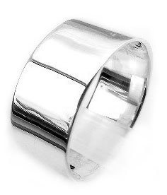 Mens Large Sterling Silver 10mm Wide Wedding Band RingSizes 6 7