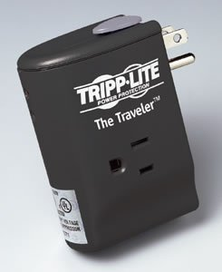 TRIPP LITE 2-outlet TRAVELER notebook surge 1050-joules w/3-rj11