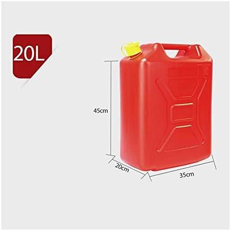 5L / 10L / 20Lプラスチック製燃料タンクガソリン缶カージェリーできるマウントオートバイジェリカンガス缶ガソリンオイルコンテナ - レッド (Color Name : 20L)