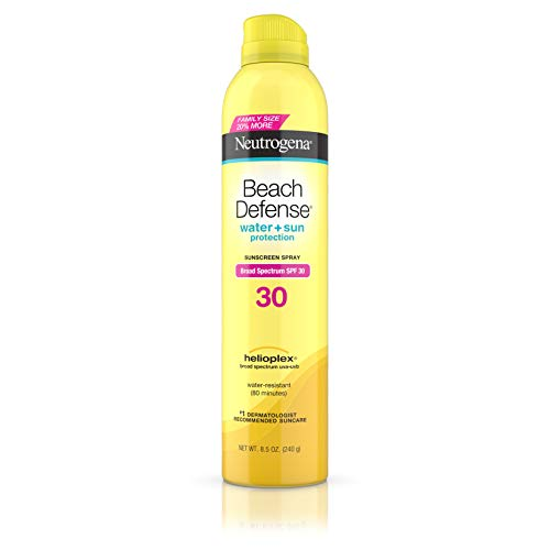 Neutrogena Beach Defense Body Spray Sunscreen, Water Resistant with Broad Spectrum Spf 30, 8.5 Ounce