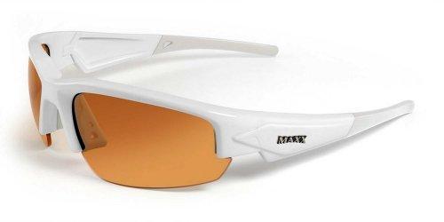 Maxx HD High Definition Sunglasses - Golf Tennis Biking Motorcycle Baseball Fishing - Mens & Womens - Over 25 Styles Available! (Sniper Black & White)