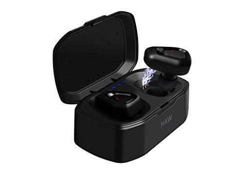 True Wireless Earbuds TWS Bluetooth Headphones [2019 Version] Mini Stereo HiFi Sound Bluetooth 5.0 IPX5 Water Resistant, 3D Stereo Sound, Wireless Earphones in-Ear Headset with Charging Case (Black) (Best Hifi Bluetooth Headphones)