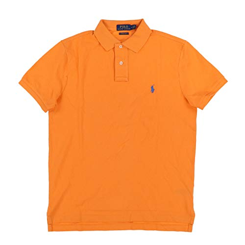 Polo Ralph Lauren Mens Custom Slim Fit Polo Shirt (Small, Bright ()