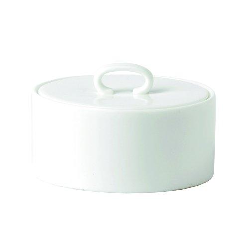 Bowl Sugar Covered Waterford - Wedgwood Ashlar Covered Sugar Bowl, White