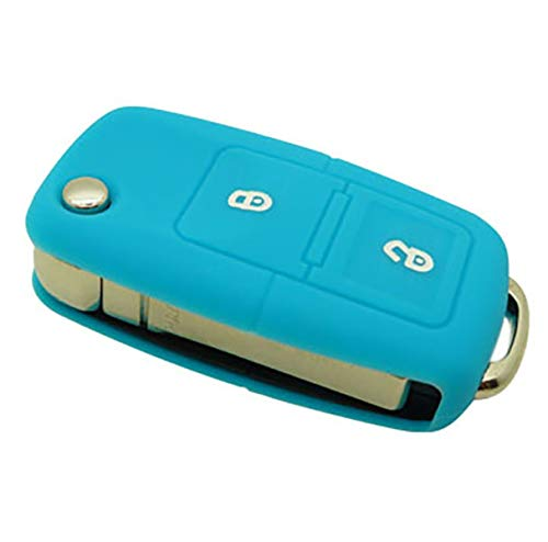 forkey 790010B Vw202s Key Case with 2 Buttons Blue