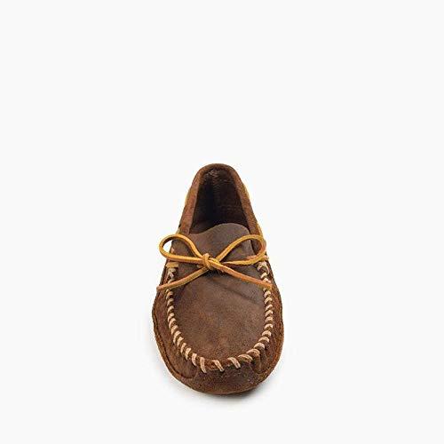 Minnetonka Men's Double Bottom Softsole Moccasin (Brown Ruff)-13 M US