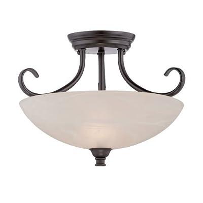 Designers Fountain 85111 Kendall 2 Light Semi Flush Ceiling Fixtures,