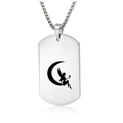 DEO JEWELRY Free Engraving - to My Granddaughter Dog Tag Military Pendant Custom Message Engraved Stainless Steel Necklace