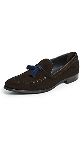 Att Starta New York Mens Devon Kontrast Drop Tofs Loafers Brun
