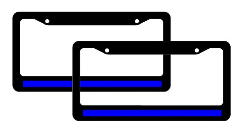 2-thin-blue-line-license-plate-frames-reflective-support-police-90
