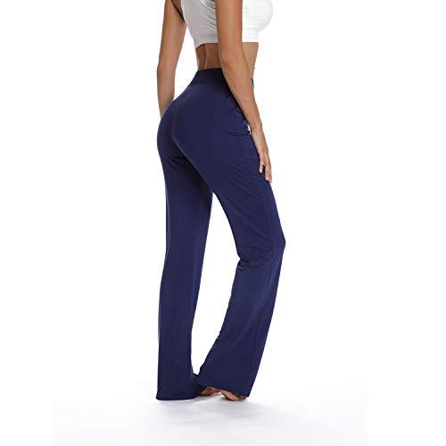 cc8f6723d3313 RIOJOY Women Wide Leg Yoga Trousers,Loose Casual Pajama Pants Fitness  Leggings Comfy Baggy Workout