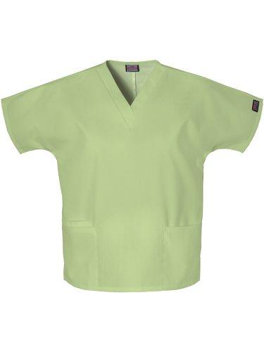 Cherokee Women's V Neck Scrubs Shirt, Sage Green, - Sage Scrubs