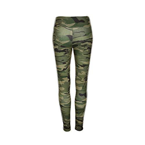 Pantaloni Ginnastica Camuffare Yoga Tuta Allenamento Casual Leggings Da Yying Fitness Compressione Per Palestra Della xl Donna S d10dqg
