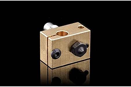 Hardened Steel V6 Nozzle +Copper Brass Heater Block + Titanium Alloy Heat Break high Temperature 0.4MM Upgrade kit for V6 HOTEND Titan