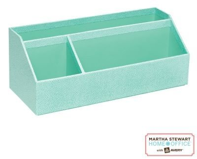 Martha Stewart Home Office with Avery Stack+Fit Shagreen Organizer, Blue