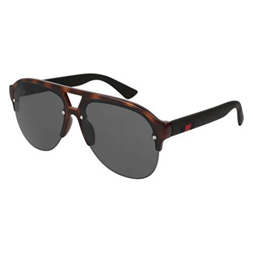 Gucci GG 0170 S- 003 HAVANA / GREY BLACK Sunglasses ()