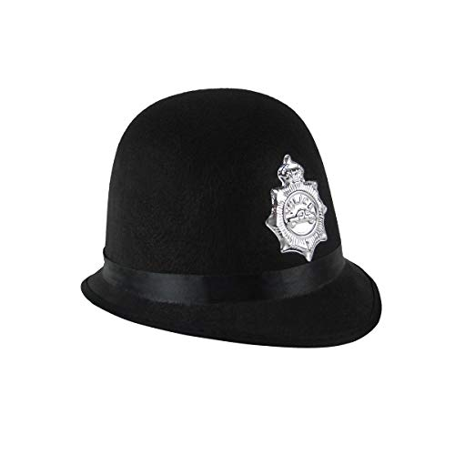 TG,LLC Black British Bobby Police Officer Hat Adult Costume Accessory