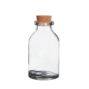 Glasflaschen mit Edelstahl Drehverschluss Flaschen Set aus Glas 500 ml 6 Stück