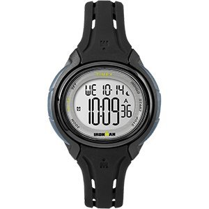 Timex Ironman Sleek 50 Mid-Size Silicone Unisex Watch - Black
