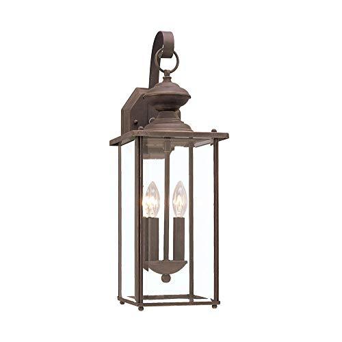 Sea Gull Lighting 8468EN-71 Jamestowne Two Light Outdoor Wall Lantern, Antique -