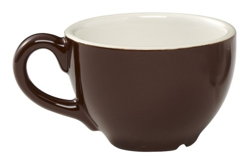 Cup Brown Espresso (Rattleware 6-Ounce Cremaware Cup, Brown, 6-Pack)