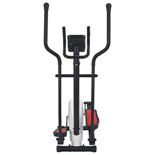 Festnight magnetische crosstrainer met hartslagmeting fitnessbike familietraining 8-traps magnetische weerstand