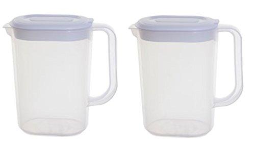 Whitefurze - 2 jarras de plástico para puerta de nevera de 1,5 l ...