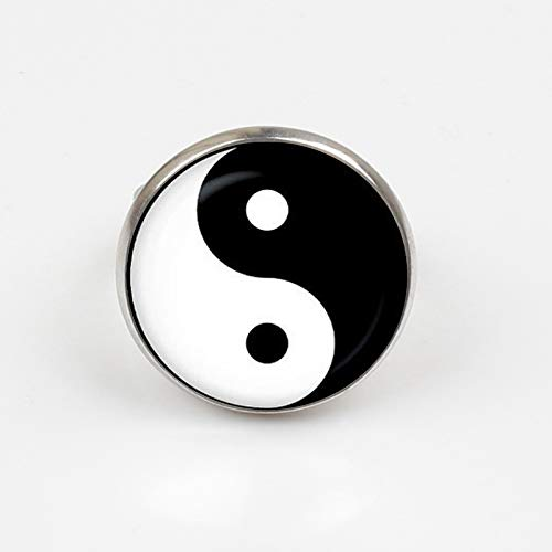 Anillo de tatuaje de Yin Yang, vintage, hecho a mano, de plata ...