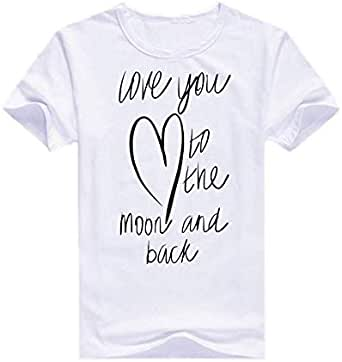Round Neck Love you to The Moon And Back T-Shirt For Men