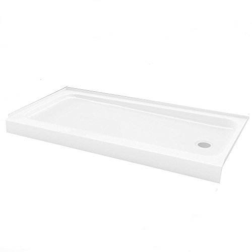 """high-quality Bootz Industries 010-1001-00 ShowerCast 60"""" x 30"""" Right Drain Single Threshold Shower Base in White"""