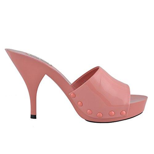 Open Toe Leather Miu Light Women's Heels Miu Pink High Shoes Pink 4ExXYwcERq
