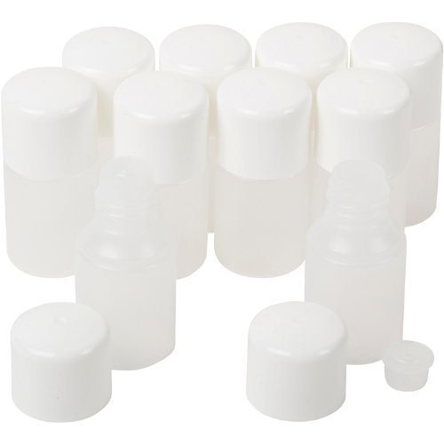 50Pc Zink Color 10Ml Natural Cylinder Round Bottle With Reducer And White Cap