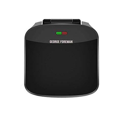 George Foreman 4-Serving Removable Plate Grill and Panini Press, Black, GRP360B