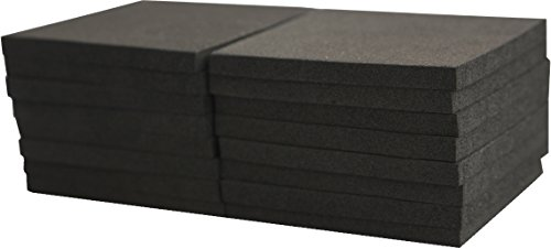 Xcel Foam Rubber Padding 16-Piece Acoustic Damper Anti-Vibration Closed-Cell Furniture Pads 3''x3''x1/4'' by Xcel