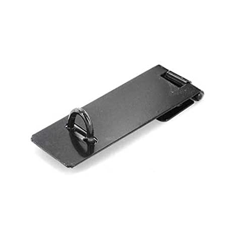 Securit S1452 Safety Hasp & Staple Lgh Black 100mm